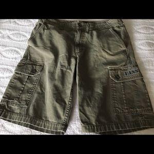 VANS Green Cargo Khaki Shorts Size 30